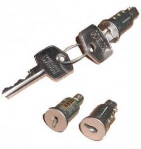 Slotenset (3 sloten/2 sleutels)