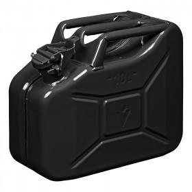Jerrycan 10L metaal zwart