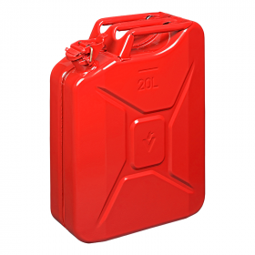 Jerrycan 20L metaal rood