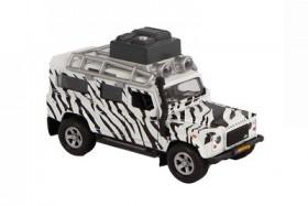 Kids Globe Die Cast Land Rover safari licht en geluid 14cm