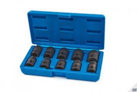 10-delige set met 1/2 metrische zeskant-krachtdoppen