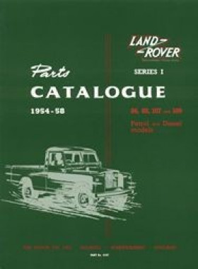 Land Rover Series 1 1954-58 Official Parts Book
